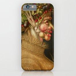 "Giuseppe Arcimboldo ""Four seasons - Summer"" iPhone Case"