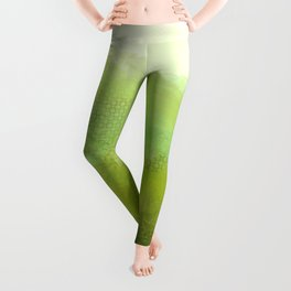 abur on green 2 Leggings