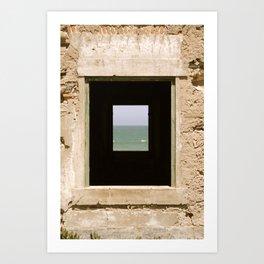 Framing the Sea Art Print