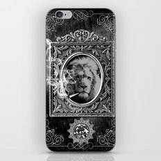 King Smokey black and white iPhone & iPod Skin