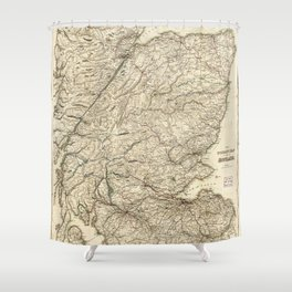 The Tourist's Map of Scotland (c 1855) Shower Curtain