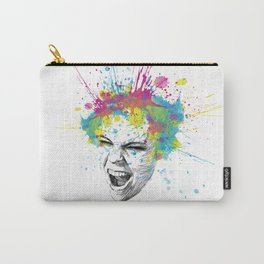 Crazy Colorful Scream Carry-All Pouch