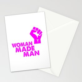 woman made mad funny saying Stationery Cards
