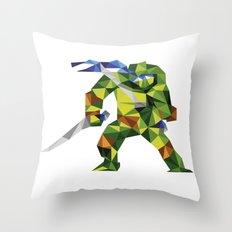 Katana Turtle Throw Pillow
