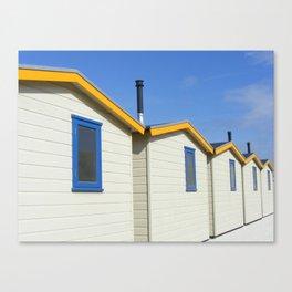 Beach houses Wijk aan Zee Canvas Print