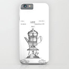 Vintage Print Coffee Urn iPhone Case