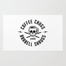 Coffee Chugs And Barbell Shrugs v2 Rug