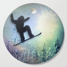 The Snowboarder: Air Cutting Board