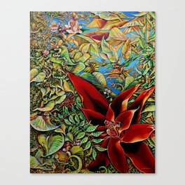The Red Flower: Julie Northey Canvas Print