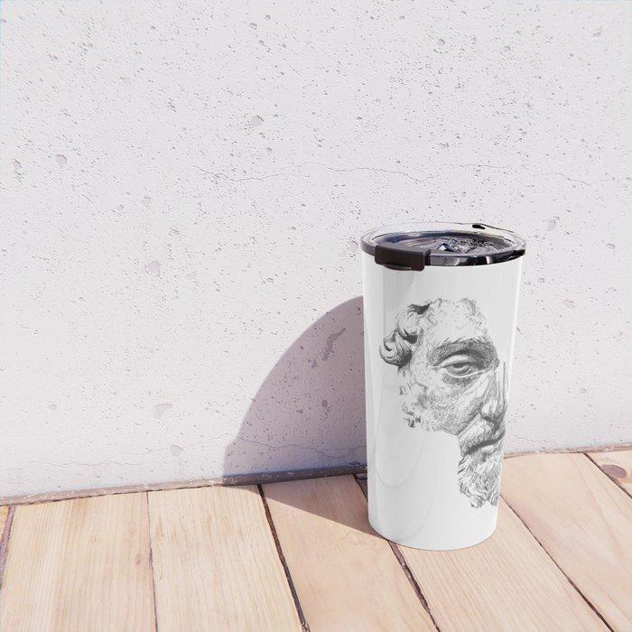 MARCUS AURELIUS ANTONINUS AUGUSTUS / black / white Travel Mug