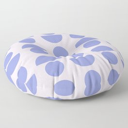 Shapes in Periwinkle Floor Pillow