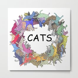 CATs Color Wheel Metal Print