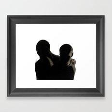 Male Silhouettes Framed Art Print