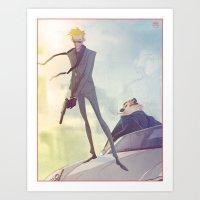 Agent Calvin and Hobbes Art Print