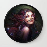 fairy Wall Clocks featuring Fairy  by Westling