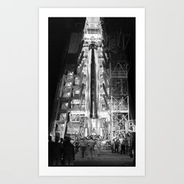 Big Joe Ready for Launch at Cape Canaveral Art Print