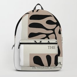 Henri matisse cut out blacka nd white flowers classic abstract, contemporary art Backpack