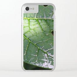 Papaya Leaf Clear iPhone Case