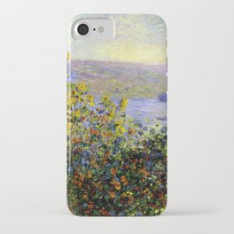Monet: Flower Beds At Vetheuil iPhone Case
