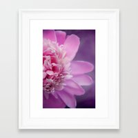 peony Framed Art Prints featuring Peony by KunstFabrik_StaticMovement Manu Jobst