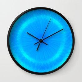 Abstract Blue Aqua water Iris Wall Clock