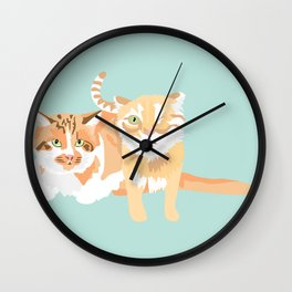 Willie and Ollie Wall Clock