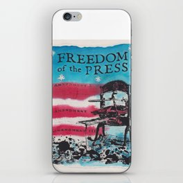 Freedom of the Press iPhone Skin