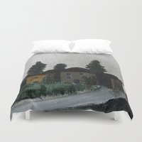 hamlet Duvet Covers featuring the hamlet by Maria Julia Bastias