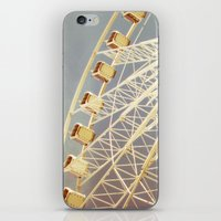 ferris wheel iPhone & iPod Skins featuring Ferris Wheel by The Last Sparrow