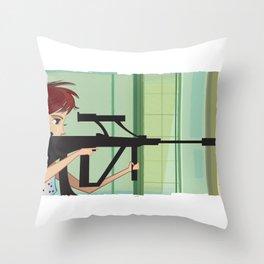 La Femme Nikita Throw Pillow