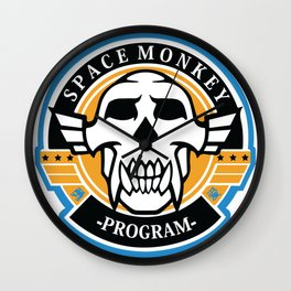 Space Monkey Program Wall Clock