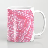 preppy Mugs featuring Preppy Flower by Brenna Whitton