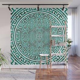 Circular Greek Meander Pattern - Greek Key Ornament Wall Mural