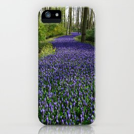 Purple Flowers Forest iPhone Case