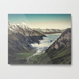 Foggy Valley Metal Print