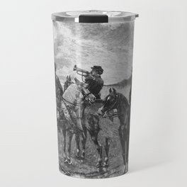 Civil War Soldiers On Horseback Travel Mug
