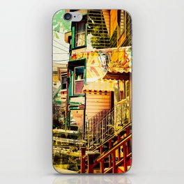 The Victorians' life in the Mission district - San Francisco iPhone Skin