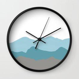 Blue Mountains Wall Clock