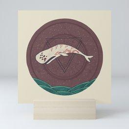 The Devil Roams These Waters Mini Art Print