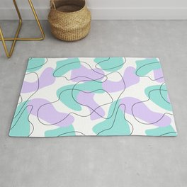 Purple and Mint Abstract Seamless Pattern Rug