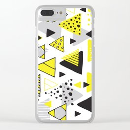 Triangles, random triangles (on white) Clear iPhone Case