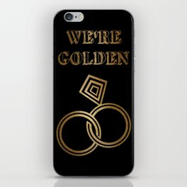 Golden Wedding Anniversary iPhone Skin