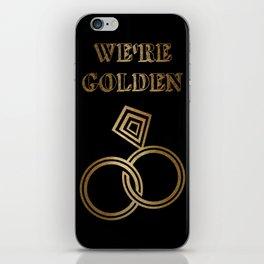 Golden Wedding Anniversary iPhone Skin