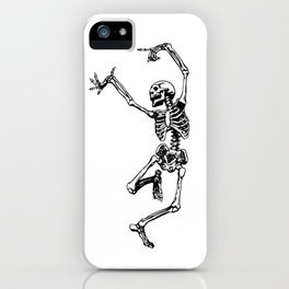 DANCING SKULL iPhone Case