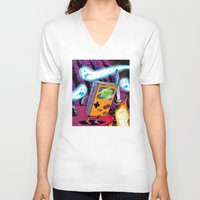 gameboy V-neck T-shirts featuring The Legend of Gameboy by thechrishaley