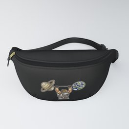 Weightlifting Astronaut | Fitness Galaxy Planets Fanny Pack