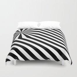 Stripes explosion - Black Duvet Cover