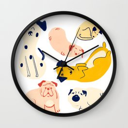 Chill Pups Wall Clock