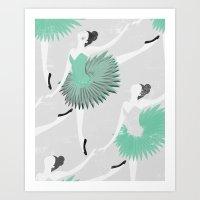 ballet Art Prints featuring BALLET by Kiley Victoria