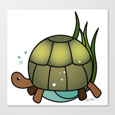 Turtle in a Circle Canvas Print